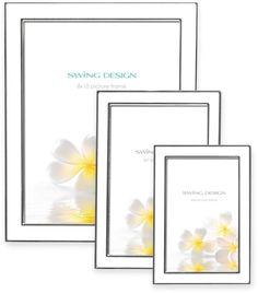Swing DesignTM Lura Picture Frame in White/Silver