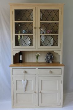 Welsh dresser solid pine victorian linen press glass doors shelves welsh dresser china cabinet planetlyrics Gallery