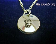 Little Monkey Personalised necklace From £19.95 FREE UK POSTAGE (small charge overseas) on my website: www.spottypig.co.uk or on my Facebook shop at www.facebook.com/SpottyPigJewellery