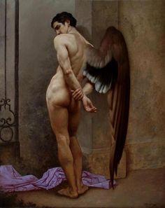 colourthysoul:    Roberto Ferri - L'attesa o l'angelo della morte