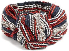 1a1b54555f9 GUCCI Crystal-embellished striped headband...Add a note of opulence to a