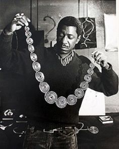 "Arthur Smith jewelry *born 1917, Cuba - 1969 he was honored with a one-man exhibition at New York's Museum of Contemporary Crafts (now the Museum of Art and Design), and in 1970 he was included in Objects: USA, a large traveling exhibition organized by Lee Nordness, an influential early dealer in craft objects. After his death 3 major exhibits were organized celebrating his work; ""Authur Smith A Jeweler's Retrospective"" at the Jamacia Arts Center in Queens NY, 1990, ""Sculpture to Wear; Art…"