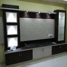 Untitled unit design With Partition unit partition Modern Tv Cabinet, Modern Tv Wall Units, Tv Cabinet Design, Tv Wall Design, Lcd Unit Design, Lcd Panel Design, Partition Design, Living Room Tv Unit Designs, Wall Unit Designs