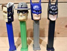 Vintage Pez Dispensers, Set of 4, Two Face Dispenser, Riddler Dispenser, 2 Batman Dispensers by DomesticTitanVintage on Etsy