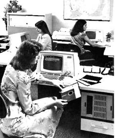The first computer-based word processor is introduced in July by Wang Laboratories of Tewkesbury, Massachusetts. The workstation looks like a typical terminal of its day, but it contains a microprocessor and of RAM. Composition Writing, Photo Composition, Mechanical Calculator, Behind Every Great Man, Crt Tv, Retro Office, Pop Culture News, Digital Scale, My Generation