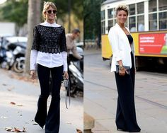 Modele pantaloni evazati dama