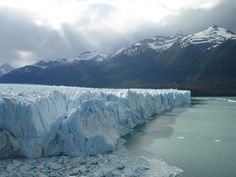 The Patagonian Perito Moreno Glacier, located in the Los Glaciares National Park of Argentina