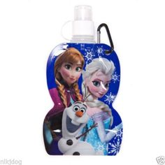 Frozen-Water-bottle-with-Keyring-Olaf-Anna-Elsa-New