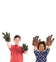 Set of 2 novelty Monster Hands for frightful fun Monster Hands complete costumes or create a buzz on their own! Large gloves–fit adult and child-sized hands Fingers move easily inside gloves Great for Halloween parties and dress up play Halloween Parties, Halloween Crafts For Kids, Creepy, Scary, Monster Hands, Werewolf, Kids Playing, New Product, Fingers