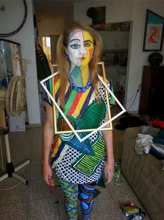 Picasso costume and face paint