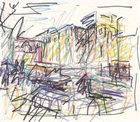 Christmas Tree at Mornington Cresent by Frank Auerbach, 2005