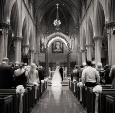 There is nothing quite like a cathedral wedding; the splendor of the architecture is the perfect backdrop for photos of your special moment. Catholic Church Wedding Ceremony | photography by http://jen-and-jonah.com
