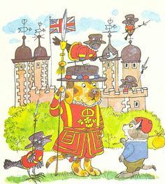Richard Scarry - Beefeater at the Tower of London.