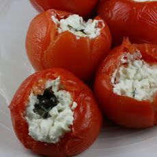 CrockPot Stuffed Tomatoes. Bake instead of crock pot for 45 minutes