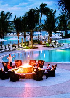 Pool and Fire Pit by Hawks Cay Resort, Duck Key, in the Florida Keys....I need to get back here.