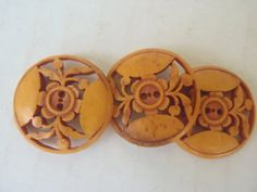 Rare Vintage Bone Buttons China Set of Three 1 by VeesVintage, $25.00