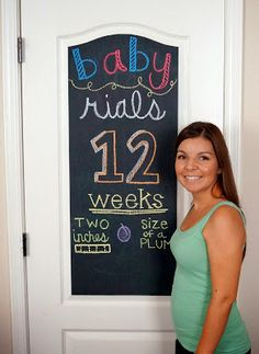 Raising Rials: Pregnancy chalkboard 12 weeks