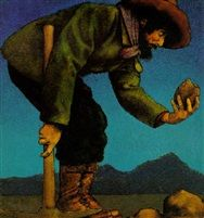 THE PROSPECTOR by Maxfield Parrish