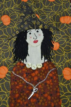 Wicked Witch-  embroidered witch at cucki's stitching cove