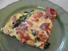 theworldaccordingtoeggface: Post Weight Loss Surgery Menus: A day in my pouch Bacon Spinach Tomato Frittata #eggs #breakfast #lowcarb #keto