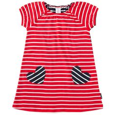 Buy Polarn O. Pyret Girls' Striped Dress, Red from our Girlswear Offers range at John Lewis & Partners. Newborn Outfits, Toddler Outfits, Kids Outfits, 6 Years, Striped Dress, Baby Dress, Stylish Outfits, Dress Skirt, Clothes