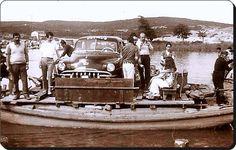Beykoz / Riva deresi köprüsü yapılmadan önce ulaşımı sağlayan tekne -