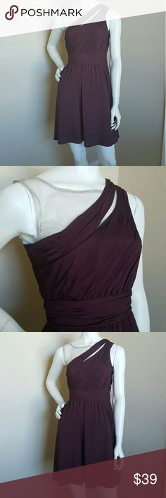 Brand New Gianni Bini classy dress Size 0 Stylish one shoulder maroon dress with net. Gianni Bini Dresses One Shoulder