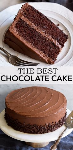The ultimate chocolate cake incredibly soft and moist and brimming with rich chocolate flavor easy to make and sure to impress! chocolate cake dessert frosting easy vanilla cake recipe from scratch Dessert Cake Recipes, Easy Cake Recipes, Baking Recipes, Cheesecake Recipes, Dessert Food, 6 In Cake Recipe, Easy Brownie Cake Recipe, Cake Recipe For Decorating, Easy Birthday Cake Recipes