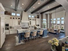 The Open Style Kitchen And Great Room Allows You To Cook While Socializing  With