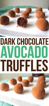 Dark Chocolate Avocado Truffles copy | #Healthy #Easy #Recipe | @xhealthyrecipex |