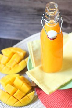 Mango Infused Vodka - Mind Over Batter Summer Drinks, Cocktail Drinks, Fun Drinks, Cocktail Recipes, Alcoholic Drinks, Beverages, Margarita Recipes, Homemade Alcohol, Homemade Liquor