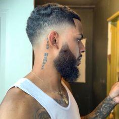 Black Fade Haircut, Afro Fade Haircut, Fade Haircut Styles, Waves Haircut, Hair And Beard Styles, Hot Haircuts, Haircuts For Curly Hair, Curly Hair Cuts, Curly Hair Styles