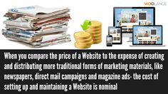 When you compare the price of a Website to the expense of creating and distributing more traditional forms of marketing materials, like newspapers, direct mail campaigns and magazine ads- the cost of setting up and maintaining a Website is nominal - Woolance #Webdesign https://www.woolance.com/service/website-and-software-and-development