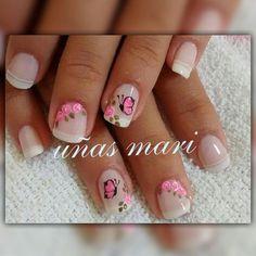 553 Me gusta, 1 comentarios - Uñas Mari (@unas.mari.56) en Instagram #increibleycierto Cute Nail Art, Beautiful Nail Art, Cute Nails, Pretty Nails, French Manicure Nails, Manicure And Pedicure, Gel Nails, Best Acrylic Nails, Gel Nail Designs