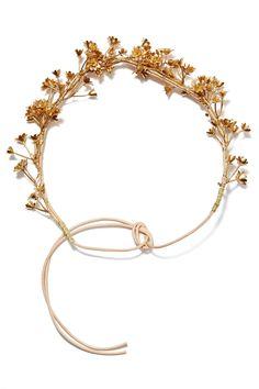 Gold My Breath Flower Crown