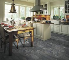 Pergo Monson Slate laminate flooring, kitchen