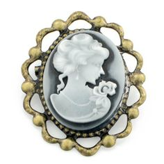 Vintage Style Cameo Pin Brooch Fantasyard. $15.59. Other color available. Exquisitely detailed designer style. Gift box available for an additional fee. Please check out through gift-wrap option