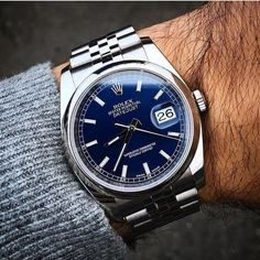 Perpetually Awesome: The Rolex Datejust #rolexdatejust #datejust credit @alekswatches #rolexero #gqstyle