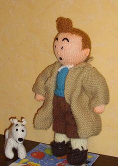 Poupées en tricot, doudou,  pulls, grilles tricots. Les modèles de quelques personnages.