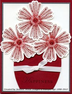 Great card! perhaps do different colors in vase...
