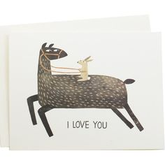 I love you too, Llama I Love You Card