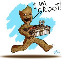 Baby Groot by jonathanserrot