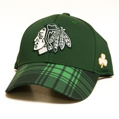 906c590b22c Chicago Blackhawks 2016 Reebok St. Patrick s Day Flex Fit Hat. Pro Jersey  Sports
