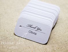 Individually Personalized Wedding Place Cards by SmilingTag | Hatch.co #Personalized #Wedding