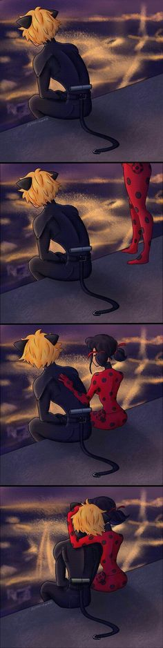 ladybug comforting chat noir, Miraculous: Tales Of Ladybug And Cat Noir Miraculous Ladybug Wallpaper, Miraculous Ladybug Fan Art, Meraculous Ladybug, Ladybug Comics, Ladybug Cakes, Lady Bug, Cat Noir Cosplay, Les Miraculous, Photo Manga