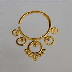 Gold Plated Septum For Pierced Nose  Body Jewelry  by RONIBIZA, $22.00