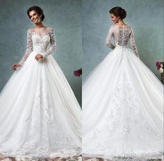 Bal Gown Wedding Dresses Amelia Sposa Fashion gradient color bridesmaid