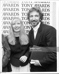 """Tony Awards """"Les Liaisons Dangereuses"""" May 20, 1987. (Photos by Michael Schwartz/New York Post Archives / (c) NYP Holdings, Inc. via Getty Images) -- I love Alan's expression; it's cute."""
