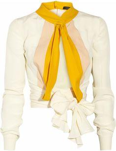 VIONNET PARIS Wrap-front Silk-crepe Blouse