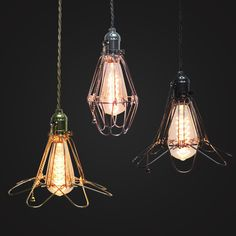 Gefen Wire Cage Pendant Lamps. Vintage Lighting for Interiors – Light with Shade